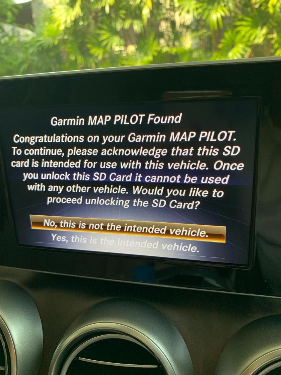Garmin Map Mercedes